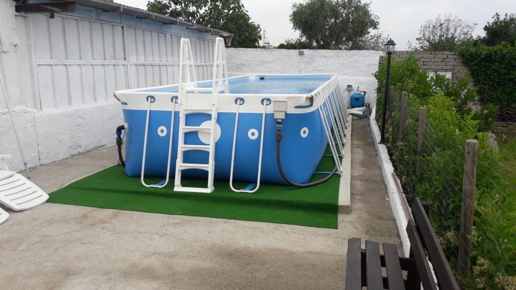 Montaggio piscina fuori terra